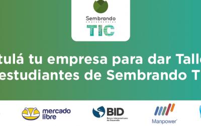 ¡Postulá tu empresa para ofrecer talleres en el programa Sembrando TIC!