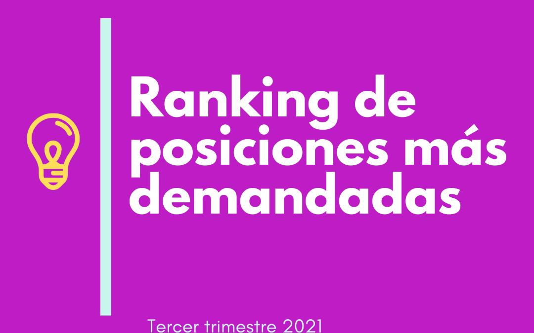 Ranking de posiciones más demandadas Tercer Trimestre 2021